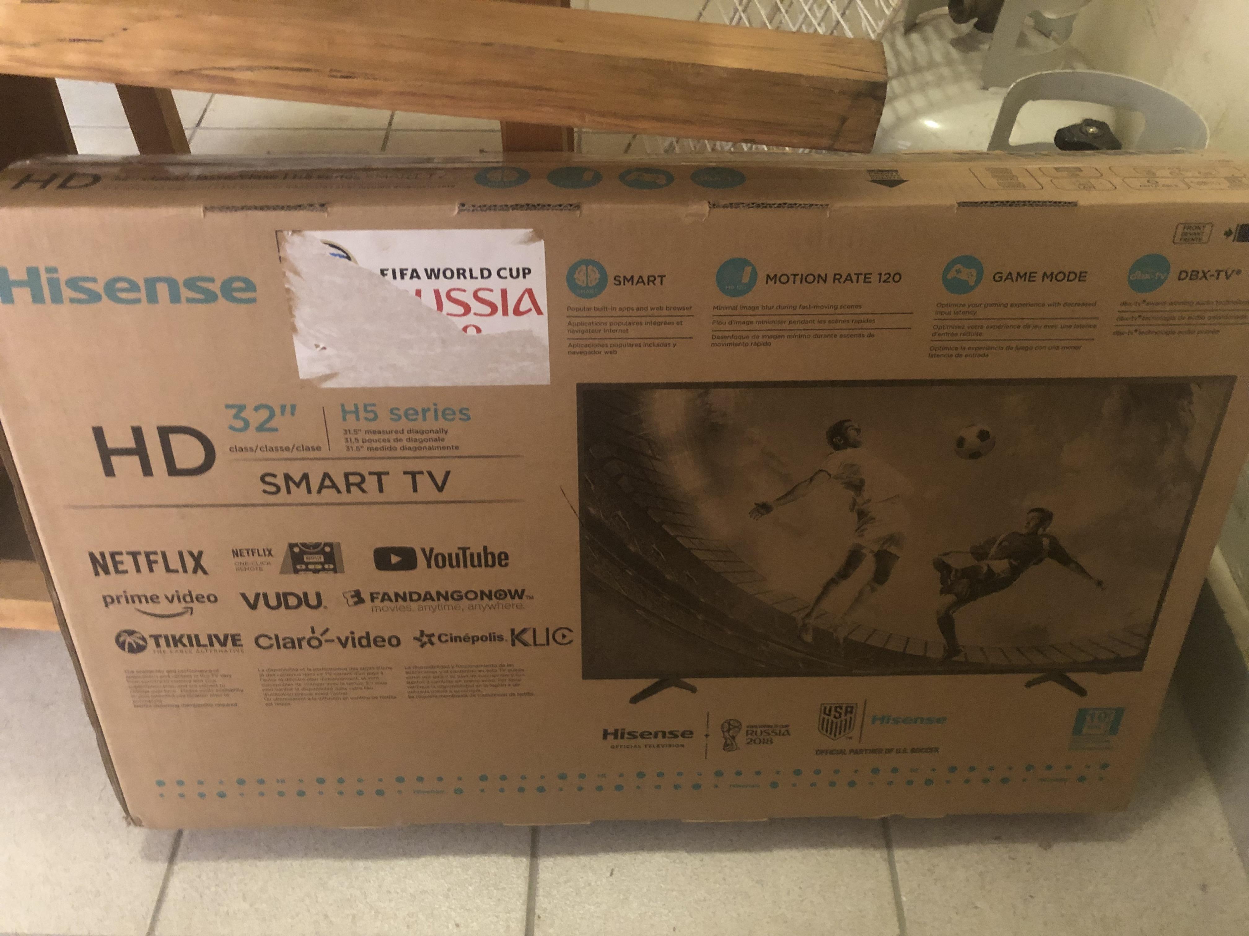 "Vendo Smart TV de 32"" Nuevo Marca Hisense"