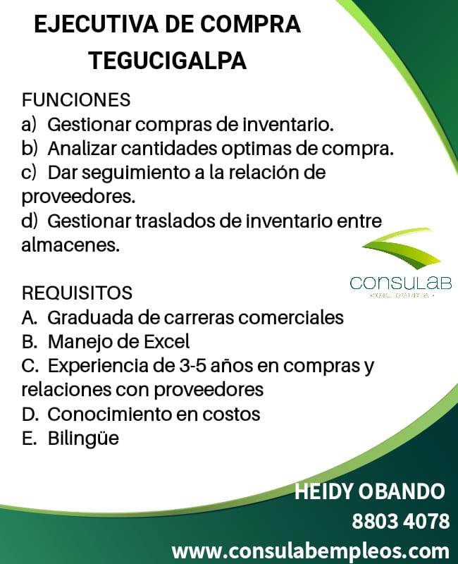 Ejecutiva de compra Tegucigalpa