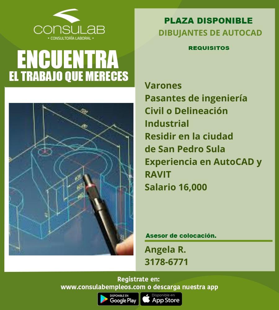 Plaza disponibles Dibujantes de Autocad