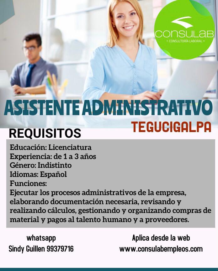 Asistente Administrativo en Tegucigalpa