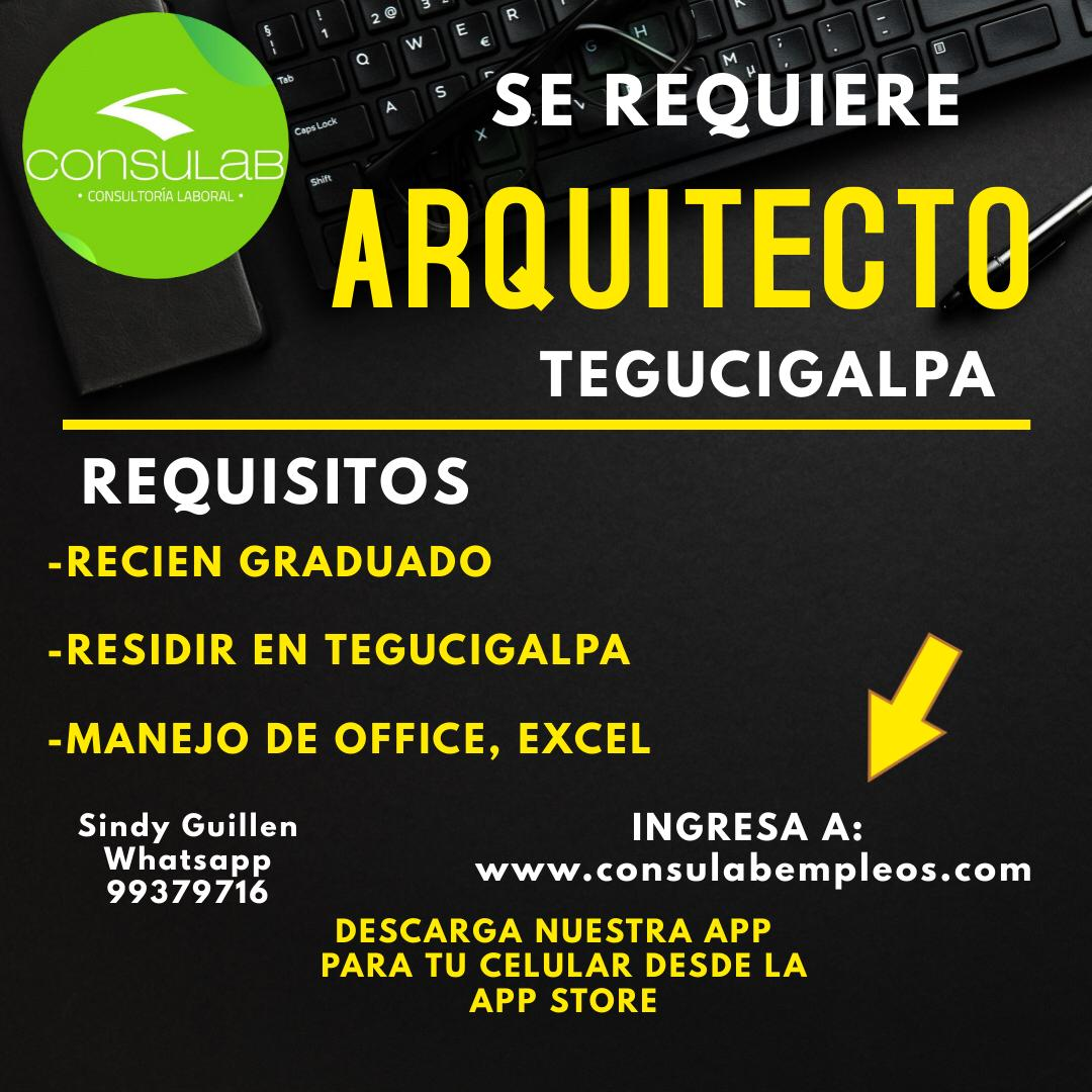Se requiere arquitecto en Tegucigalpa