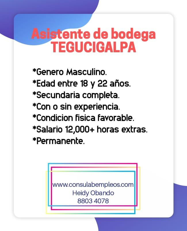 Asistente de bodega Tegucigalpa