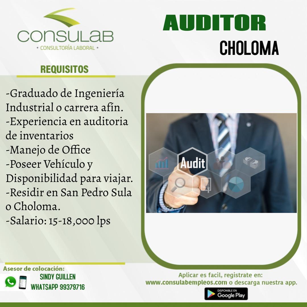 Se solicita Auditor en Choloma