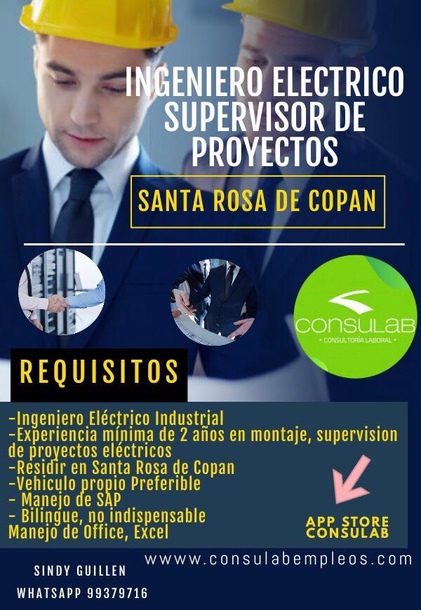 Ingenieros electricos supervisor de proyectos