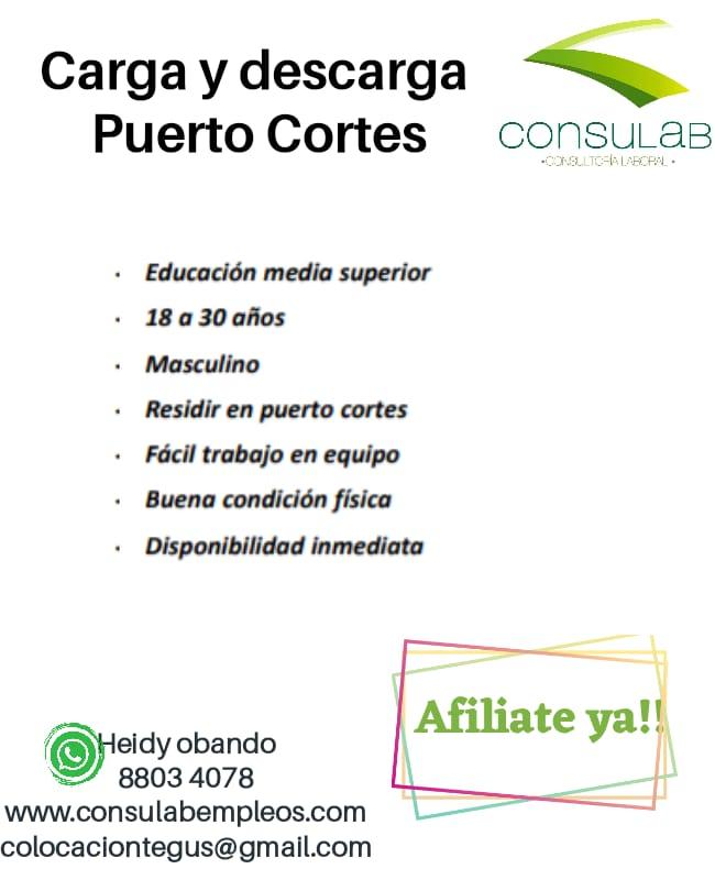 Carga y descarga, Puerto Cortes