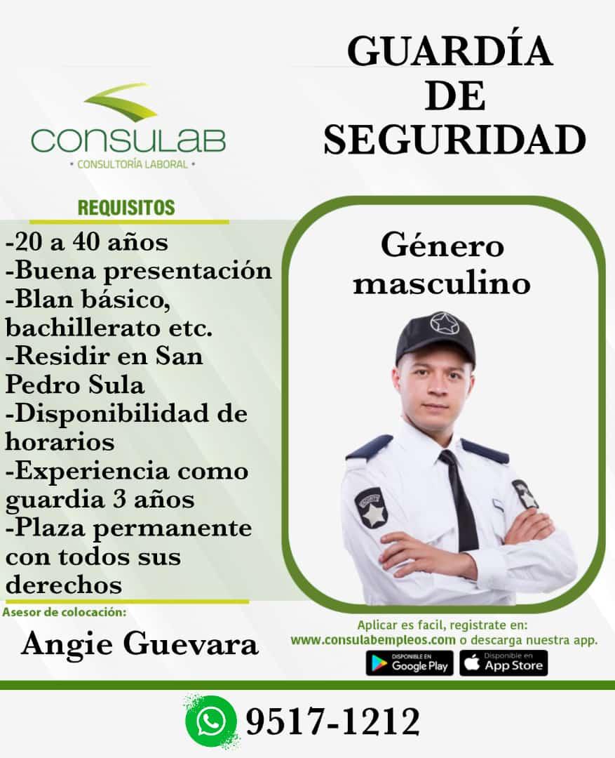Se contrata guardia de seguridad