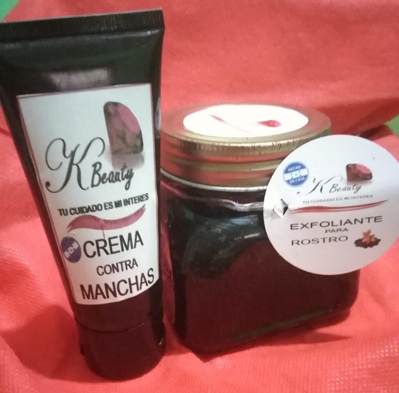 Exfoliante y crema contra manchas