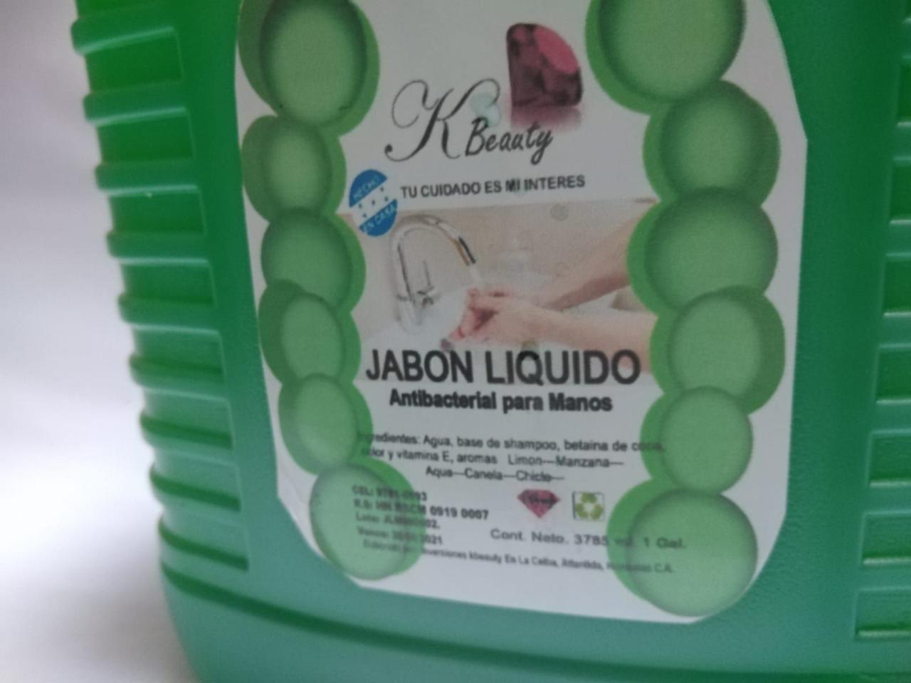 Jabon antibacterial para las manos