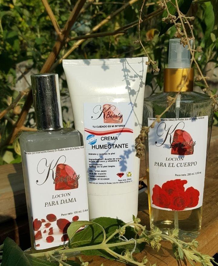 Set de perfume, body y crema humectante