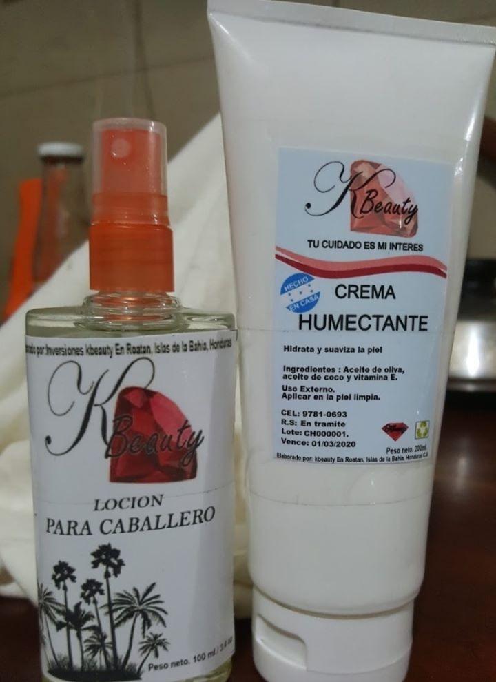 Locion para hombres y crema humectante