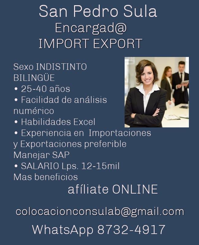 Encargada de Import y Export / SPS