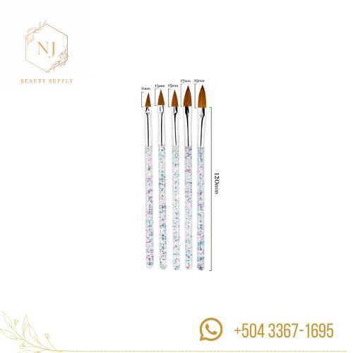 Venta de set de brochas para acrilico de uñas