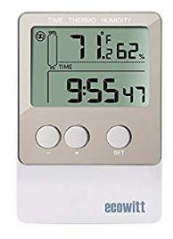 Grabador temperatura/humedad ECOWITT 20,736 puntos de lectura