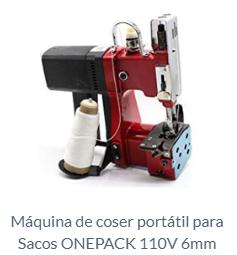 Máquina de coser portátil para Sacos ONEPACK 110V 6mm