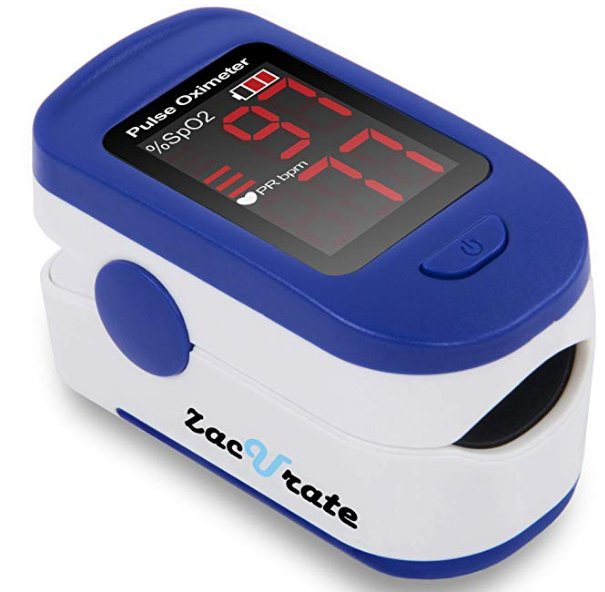 Monitor saturación de oxígeno en sangre con oxímetro de pulso
