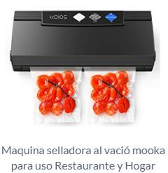 Maquina selladora al vació mooka para uso Restaurante y Hogar