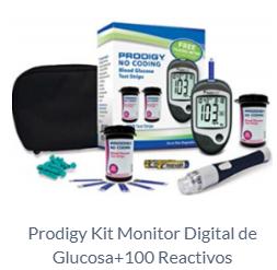 Prodigy Kit Monitor Digital de Glucosa+100 Reactivos