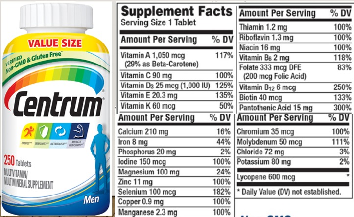 Centrum Multivitamins for Men